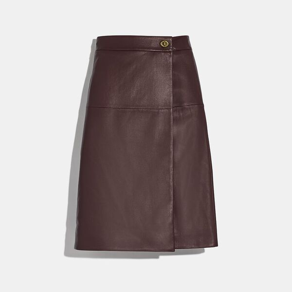 Leather Skirt With Turnlock