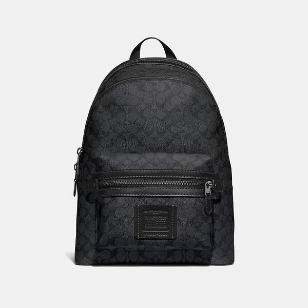 Academy Backpack In Signature Canvas, QB/CHARCOAL, hi-res