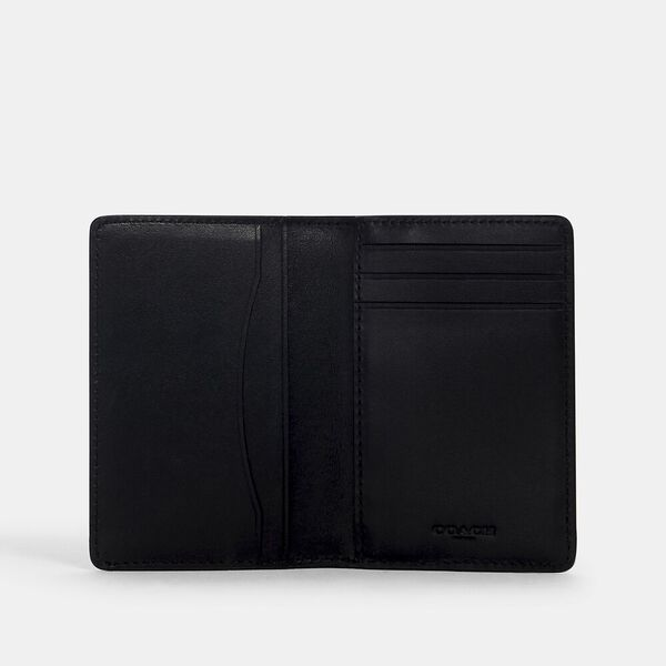 Card Wallet In Signature Canvas With Coach Patch, QB/TAN BLACK, hi-res